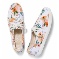 Keds X Rifle Paper Co. Champion Lively Floral Shoes in White