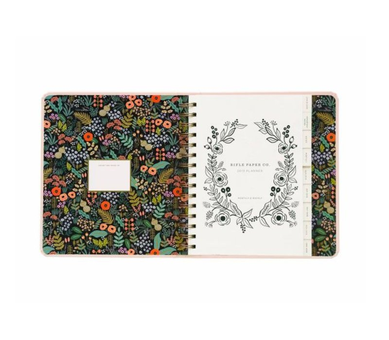 2019 Covered Spiral Bouquet Planner by Rifle Paper Co
