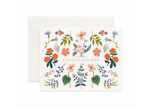 Rifle Paper Co. Wildwood Congratulations Card by Rifle Paper Co