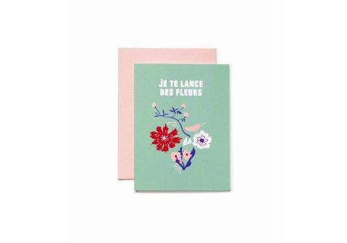 """""""Je te lance des fleurs"""" Card by Bien à Vous"""