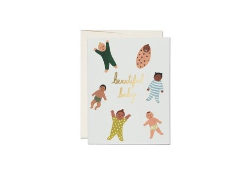 Beautiful baby card by Red Cap