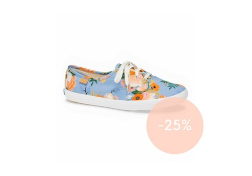 Keds x Rifle Paper Co. Champion Lively Floral in Periwinkle by Keds X Rifle Paper Co. -