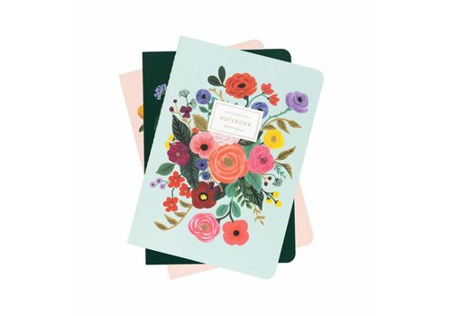 Rifle Paper Co. Set of 3 Garden Party Notebooks by Rifle Paper Co.