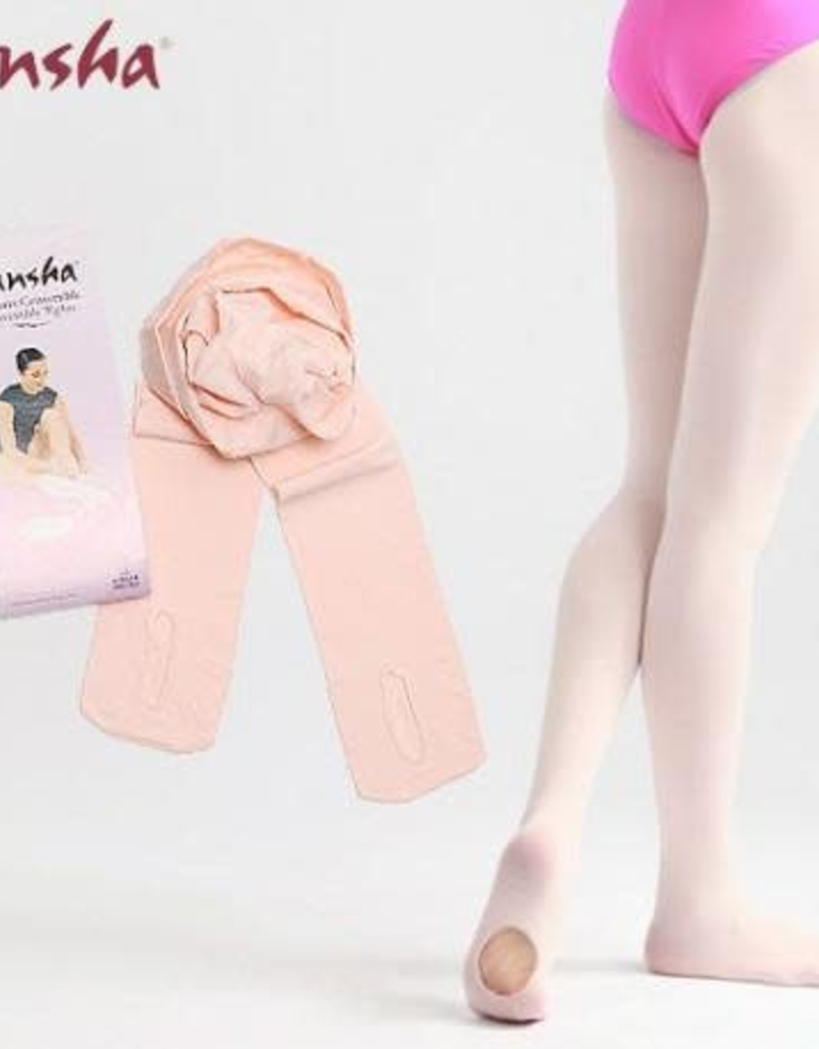 Sansha Convertible tights Pink & Black
