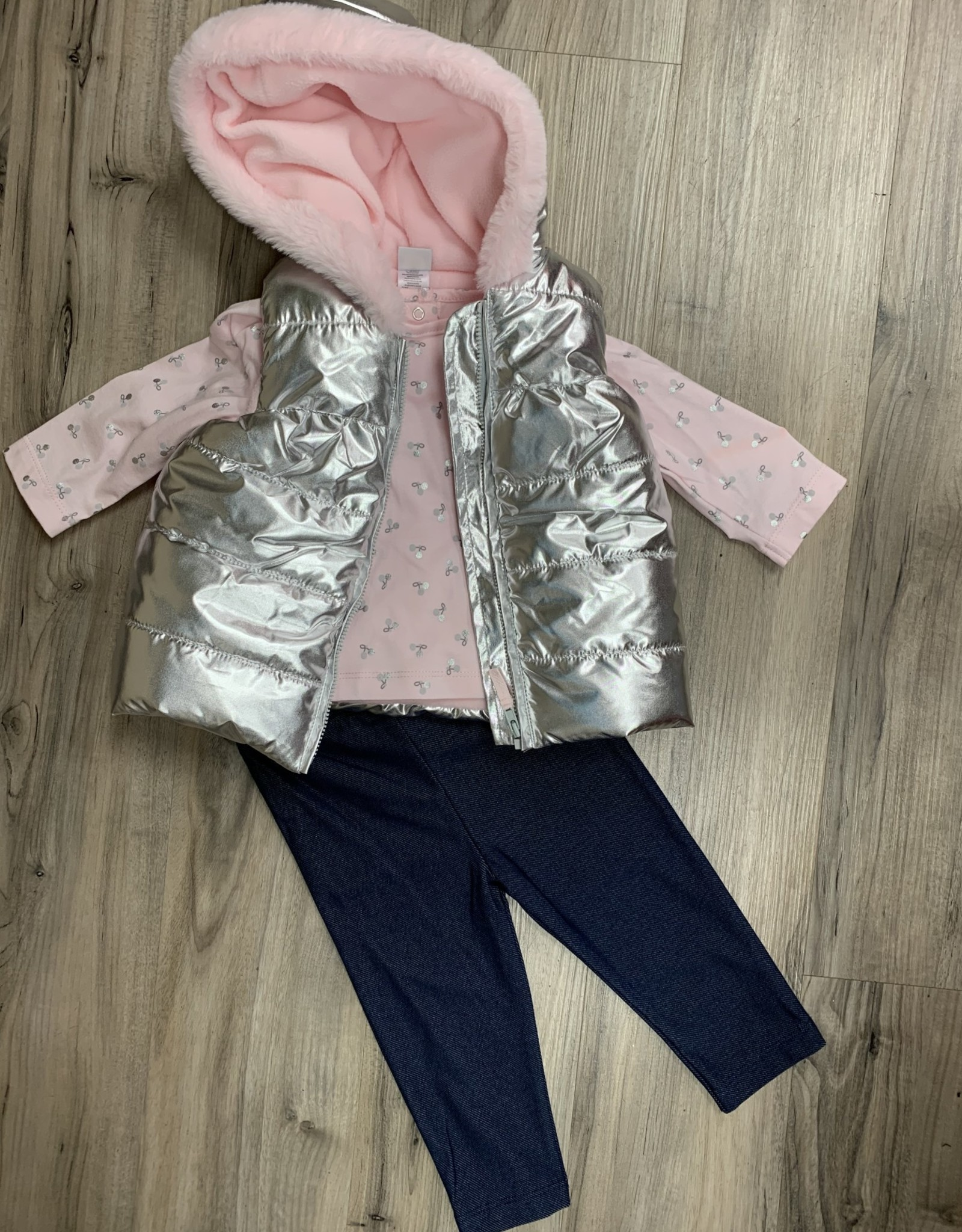 Little Me Vest 3 pc outfit