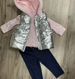 Little Me Vest 3 pc outfit
