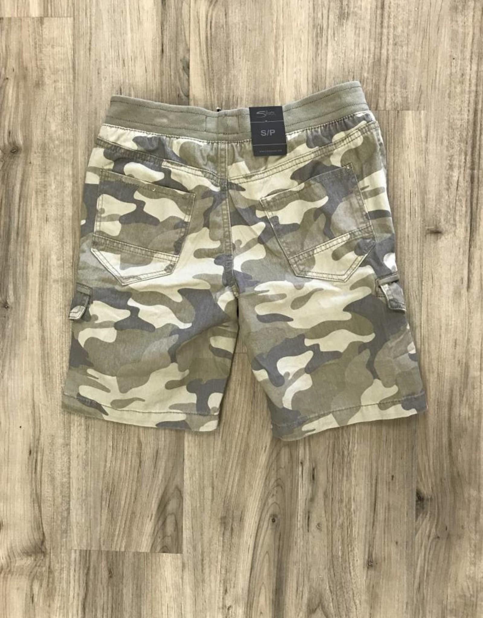 silver Shorts Twill