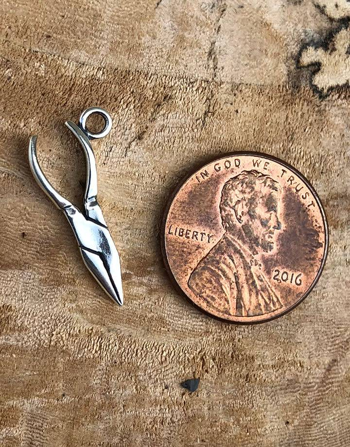 CM0007 = Chain Nose Pliers Charm Sterling Silver