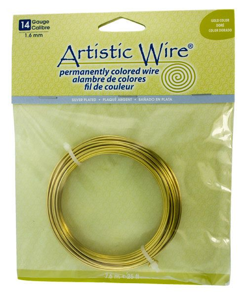 WR35314 = Artistic Wire PACK SP GOLD 14ga 25 FEET