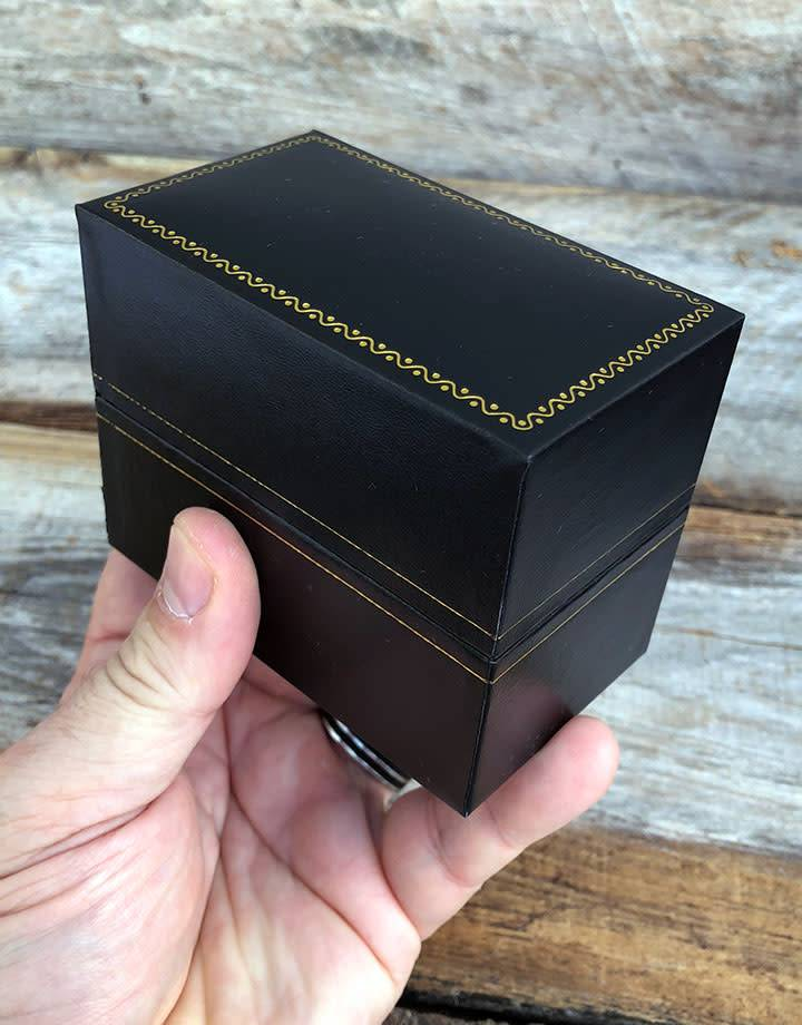 DBX1308 = Double Door Leatherette Watch/Bracelet Box with Packer