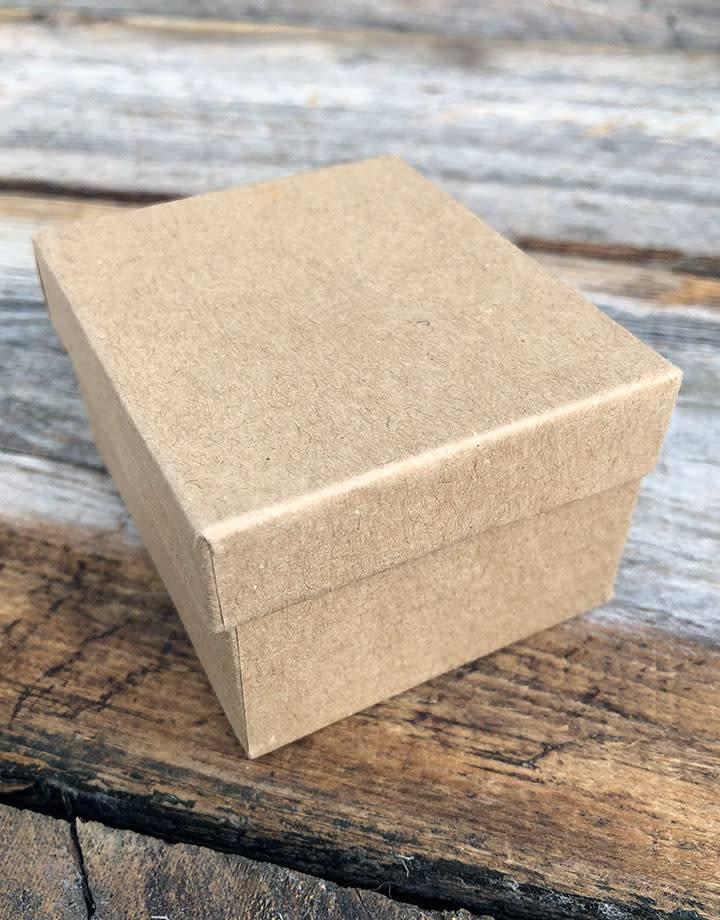 DBX3902 = Boxes - Burlap Covered Ring Box 2-3/8'' x 2'' x 1-1/2''H
