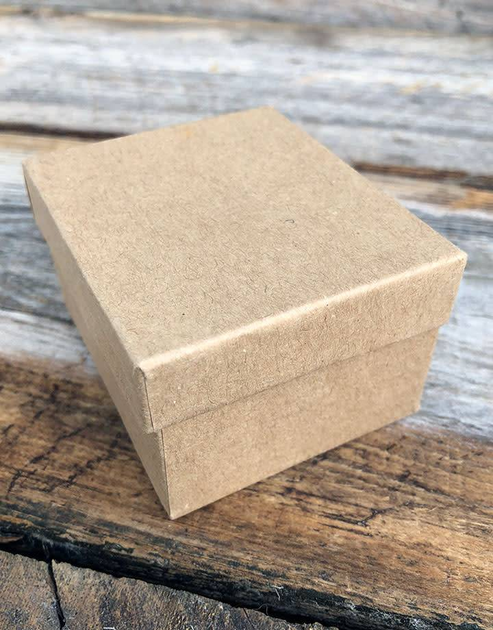 DBX3902 = Burlap Covered Ring Box 2-3/8'' x 2'' x 1-1/2''H
