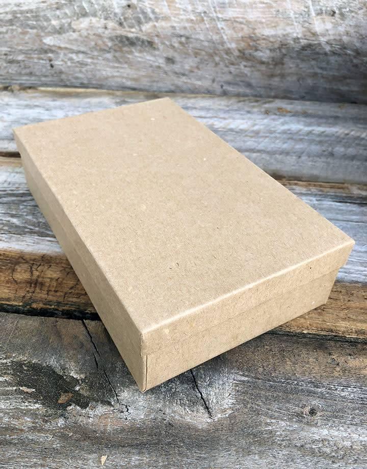 DBX3970 = Burlap Covered Necklace Box 4-1/4'' x 7'' x 1-5/8''H