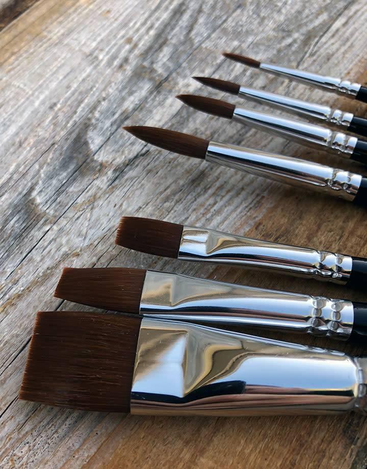 BU40842 = Ranger Artists's Brush Set 7pcs