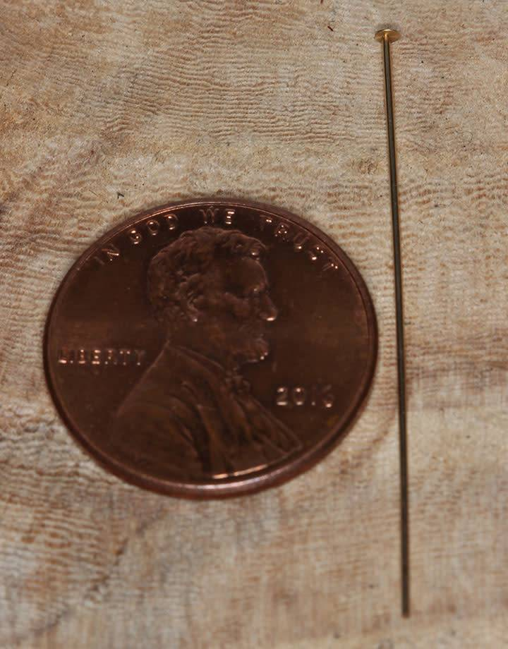 807F-06 = Head Pin 1.5'' x .020'' (24ga/.5mm) Gold Filled (Pkg of 10)