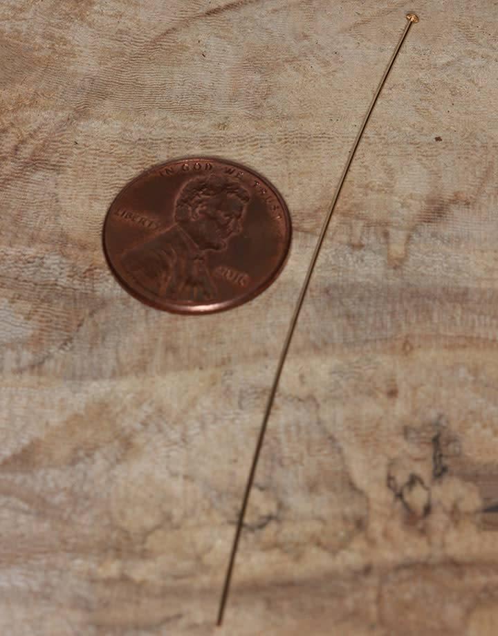 807F-08 = Head Pin Gold Filled 3'' x .020'' (24ga/.5mm) (Pkg of 10)