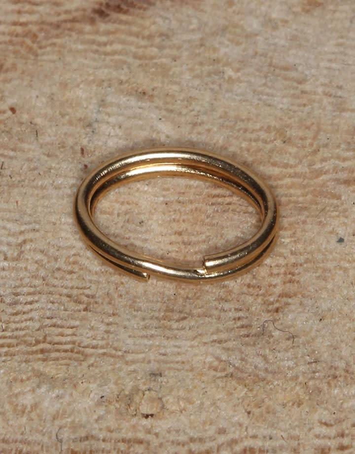 901F-06 = Split Ring 3.6x5.8mm Oval Gold Filled (Pkg of 10)