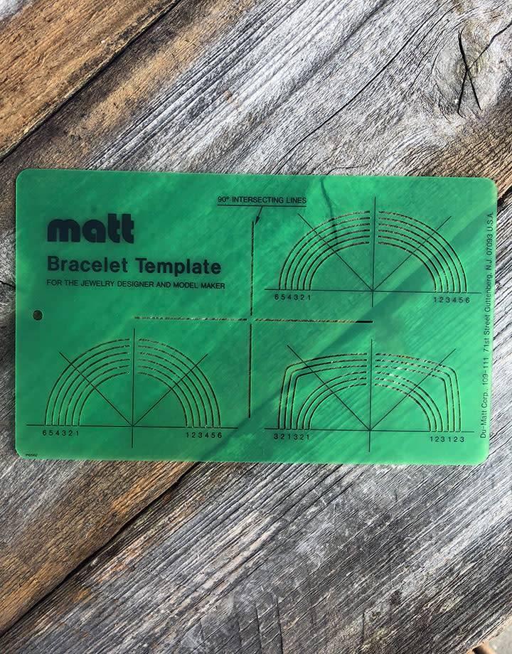 Du-Matt 21.02896 = Matt Wax Design Template for Bracelets