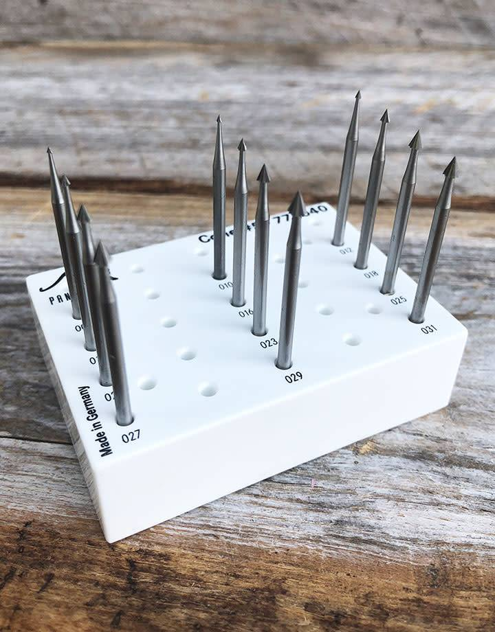 Panther Burs 18.111G = Cone Bur Set TUNGSTEN/VANADIUM  (0.9 to 3.1mm) 12pcs