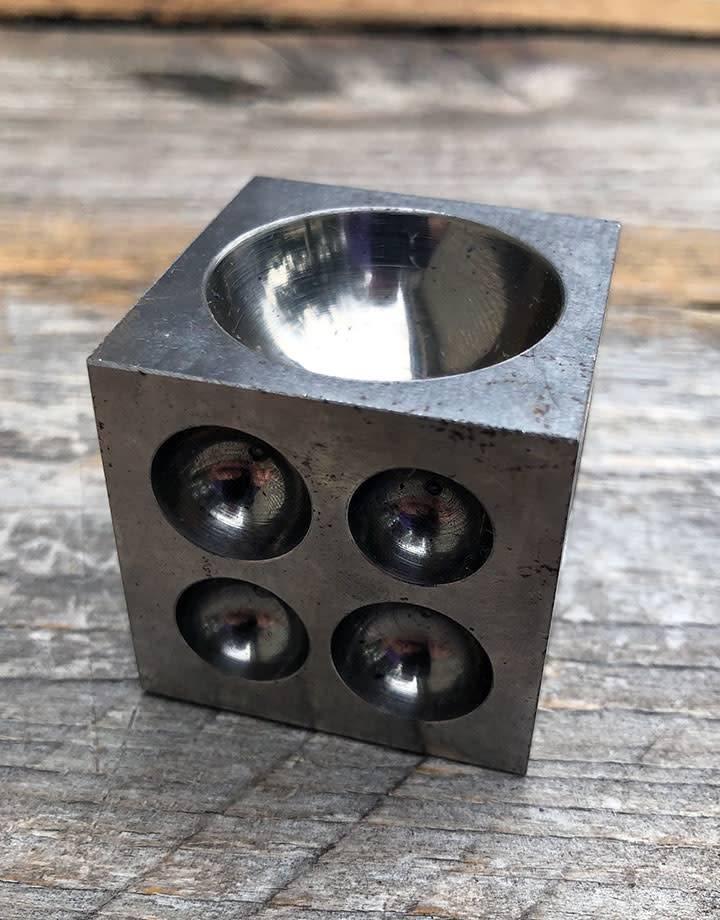 DA9066 = Economy Steel Dapping Block 1-1/2'' x 1-1/2'' x 1-1/2''