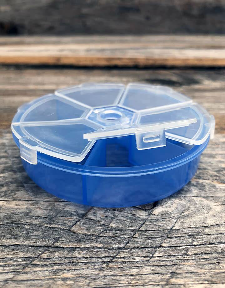 BX1325 = Round Storage Box with 6 Compartments 3-1/4''