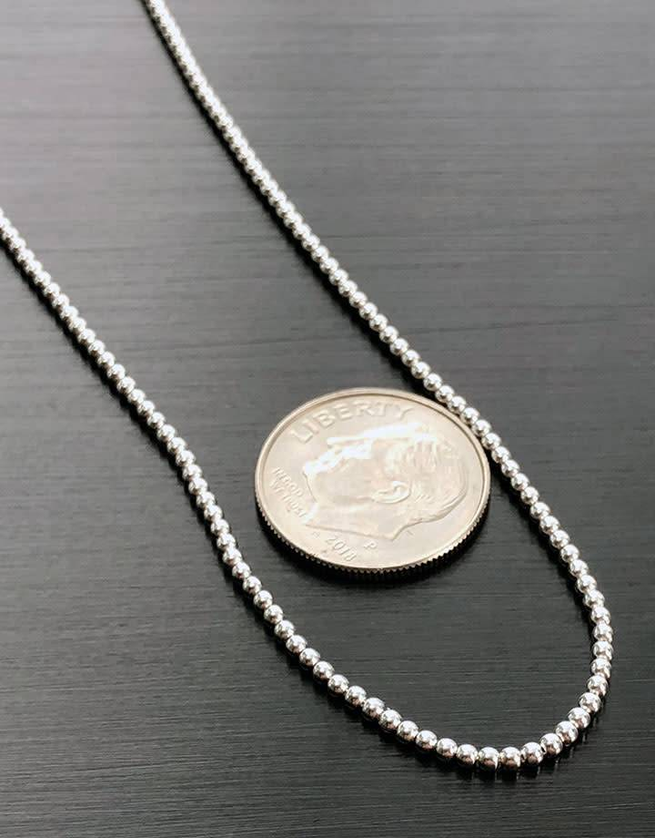 Ball1.5-16 = Sterling Ball Chain 1.5mm - 16""