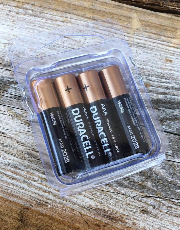 BA-AAA = AAA Alkaline Duracell Batteries (Pack of 4)