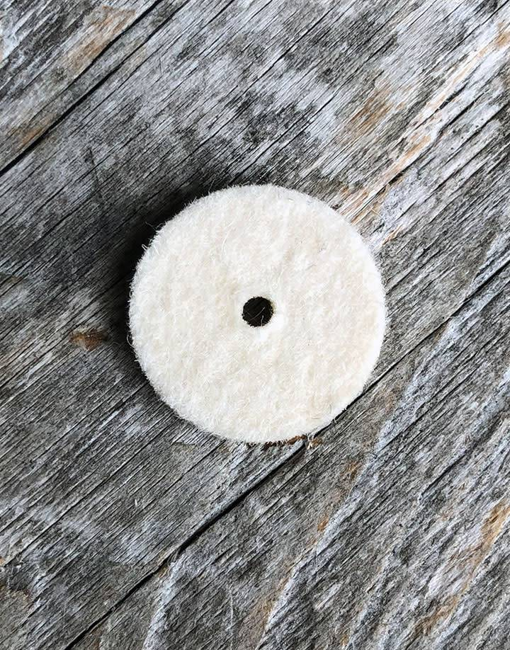 17.363 =  Felt Midget Buff 5/8'' Soft Square Edge Wheel (Pkg of 25)