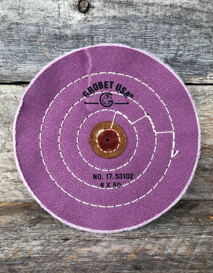 Grobet USA 17.53102 = BUFF - BERRY BUFF LEATHER CENTER 6'' 50 PLY