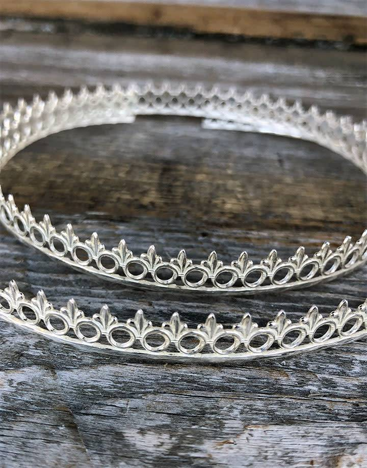 """SGW04 = Sterling Gallery Wire """"Ring and Fleur"""" (Per Inch)"""