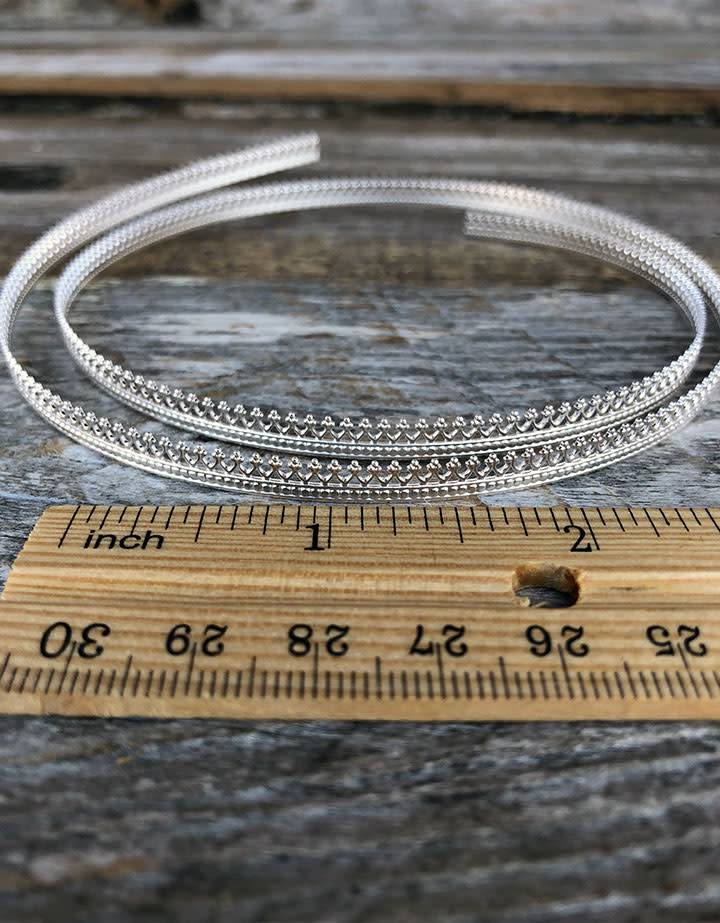 """SGW01 = Sterling Gallery Wire """"Crown"""" (Per Inch)"""