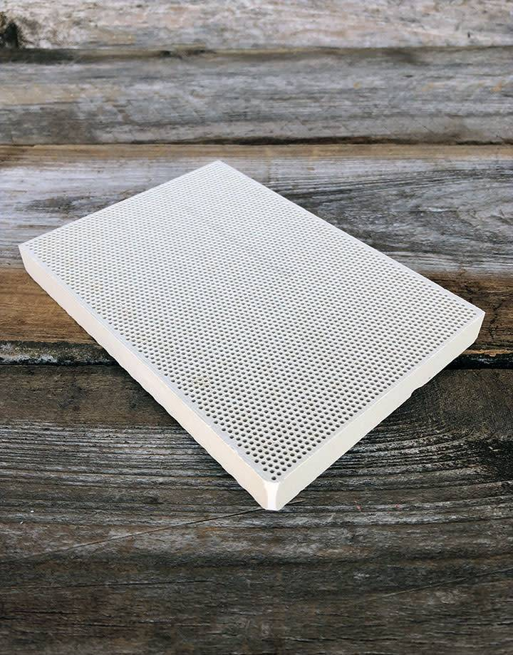 54.215 = Honeycomb Ceramic Solder Block 3-3/4'' x 5-1/4''