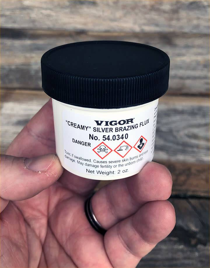 54.0340 = Vigor Creamy Silver Brazing Flux  2oz Jar