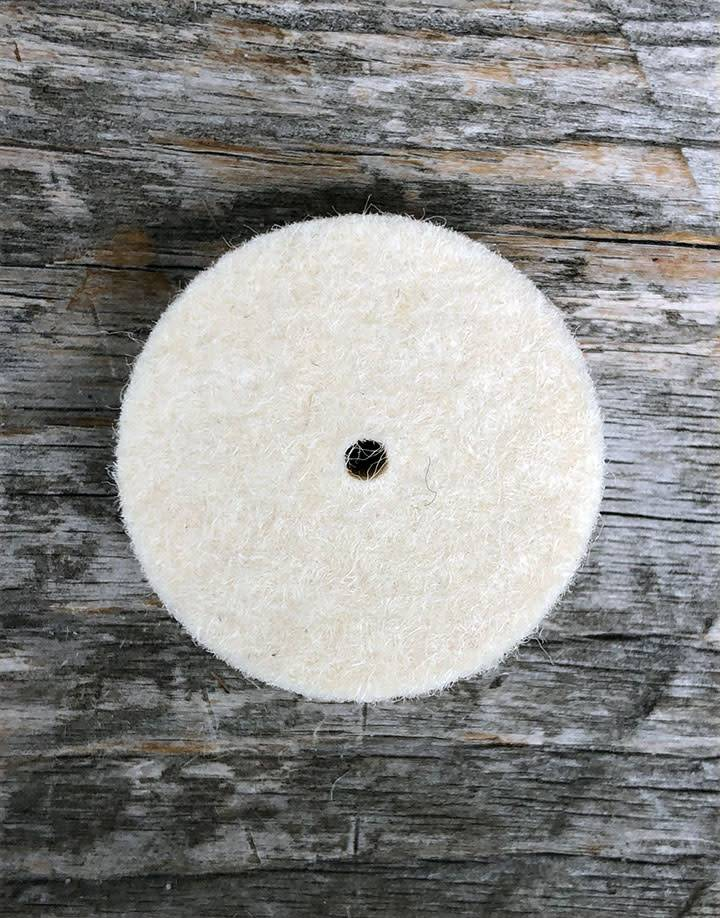 "17.380 =  Felt Midget Buff 1''x1/4"" Soft Square Edge Wheel (Pkg of 25)"