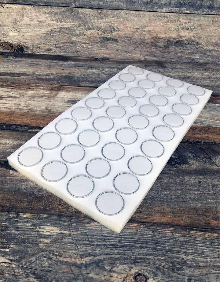 DST2436 = Gem Jar Tray Insert 36 Jars White