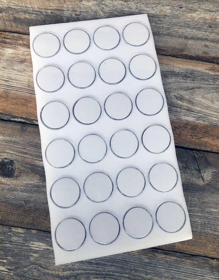 DST2424 = Gem Jar Tray Insert 24 Jars White