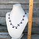 DCH6866 = White Leatherette Necklace Display 7-7/8'' x 5'' x 10-3/4'' H
