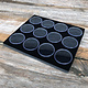 DST2512 = Gem Jar Tray Insert with 12 Jars in Black