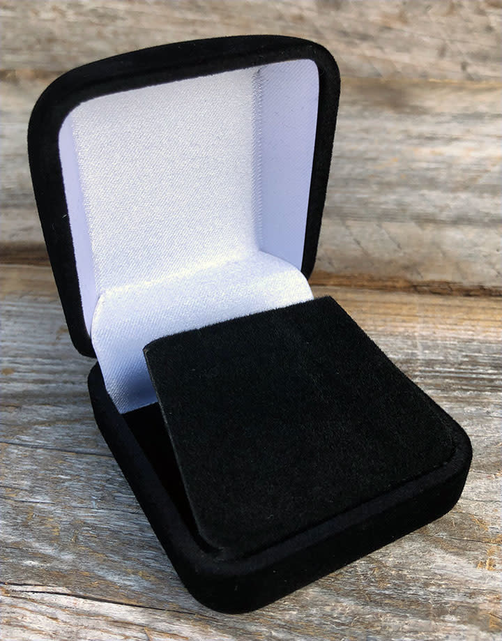 DBX1220 = Black Value Velvet Earring Box (Each)