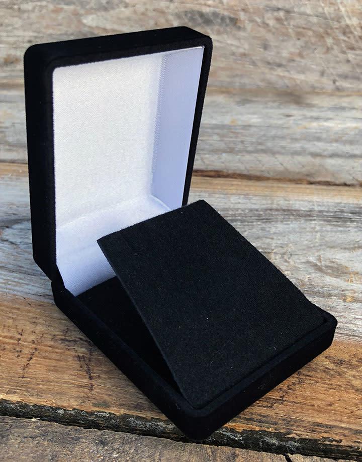 DBX1215 = Black Value Velvet Small Pendant Box (Each)