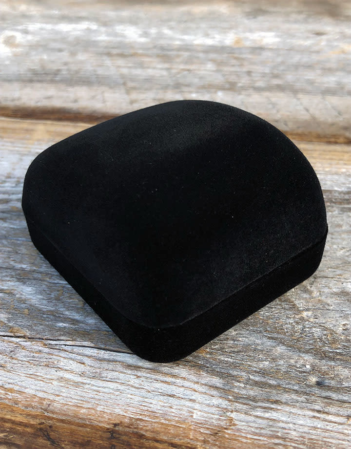 DBX1212 = Black Value Velvet Ring Box (Each)
