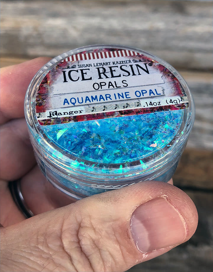 CE774 = Ice Resin Aquamarine Opal