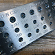 DP555 = Round Tungsten Drawplate 39 Holes  0.26 to 2.8mm