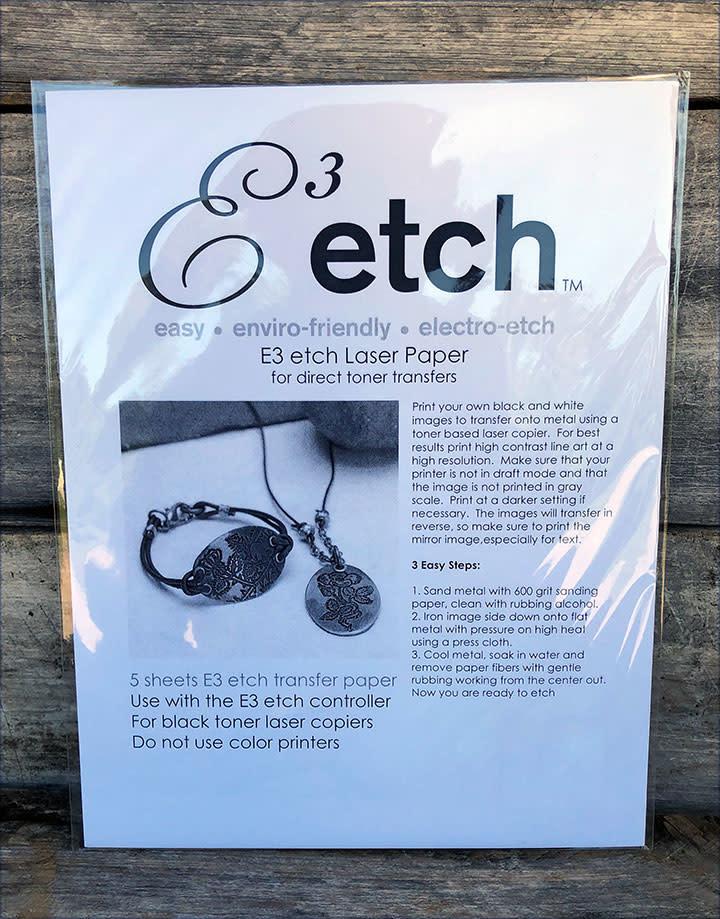 ET1001 = E3 ETCH PAPER (Pkg OF 5)