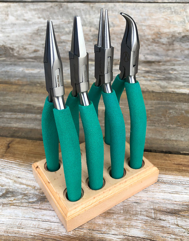 PL6097 = Wubbers Plier Set (4 pcs) with Stand