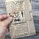 DBG1111 = Paper Gift Bag Classic News Print Pattern 4'' x 6'' (Bundle of 100)