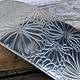 ASP4620 = Patterned Aluminum Sheet ''Mum's the Word'' 2'' x 6'' 20ga