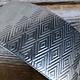 ASP4220 = Patterned Aluminum Sheet ''Triangle/Herringbone'' 2'' x 6'' 20ga