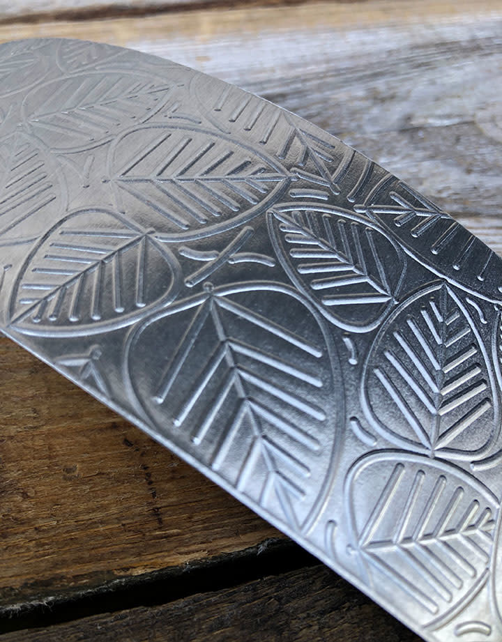 ASP3720 = Patterned Aluminum Sheet ''Leaves'' 2'' x 6'' 20ga