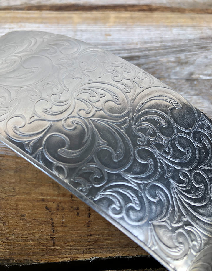 ASP3420 = Patterned Aluminum Sheet ''Nouveau'' 2'' x 6'' 20ga